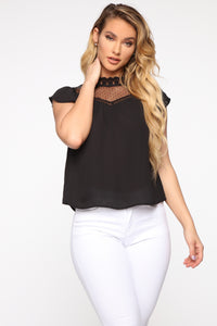 Isn't She Lovely Blouse - Black