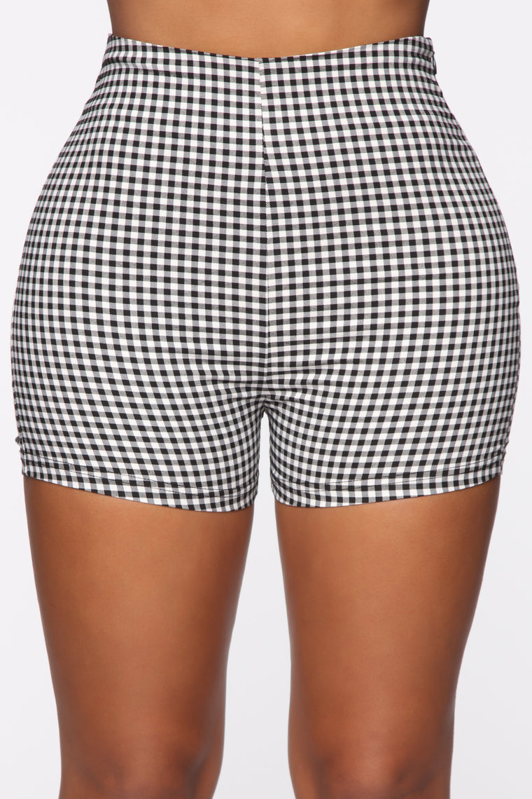 Gingham Cutie Short Set - Black/Combo