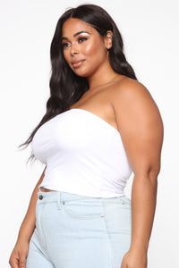 Unstoppable Curves Tube Top - White