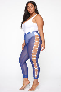 Playing The Game Mesh Joggers - Blue