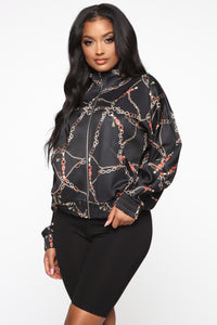Off The Chain Bomber Jacket - Black Angle 3