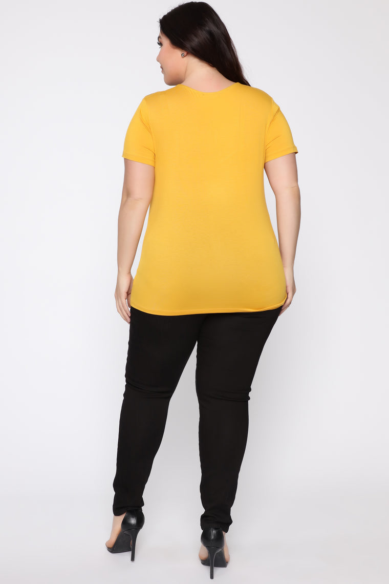 Can't Hold Me Down Top - Mustard/combo