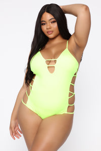 Stay With You Swimsuit - Lime
