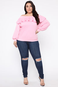 Ready For The Weekend Sweatshirt - Dusty Pink Angle 7