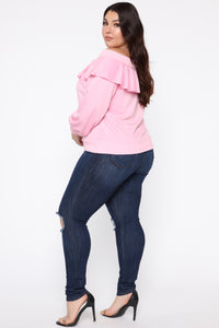 Ready For The Weekend Sweatshirt - Dusty Pink Angle 9
