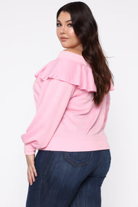 Ready For The Weekend Sweatshirt - Dusty Pink Angle 8