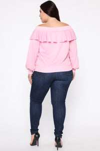 Ready For The Weekend Sweatshirt - Dusty Pink Angle 10