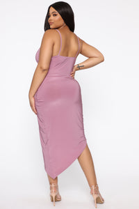 Lost For Words Midi Dress - Violet