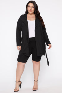 Run The World Trench Coat - Black