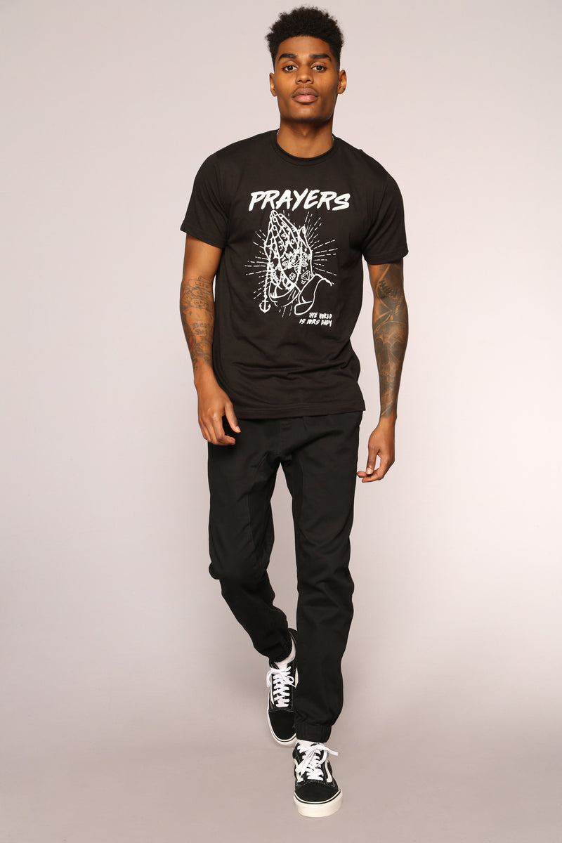 Prayers Short Sleeve Tee - Black