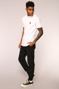 Rose Short Sleeve Tee - White