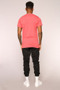 Tag Me Short Sleeve Tee - Red