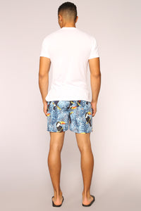 Sam Board Shorts - Rain Forest Toucan