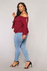 Summer Picnics Top - Burgundy