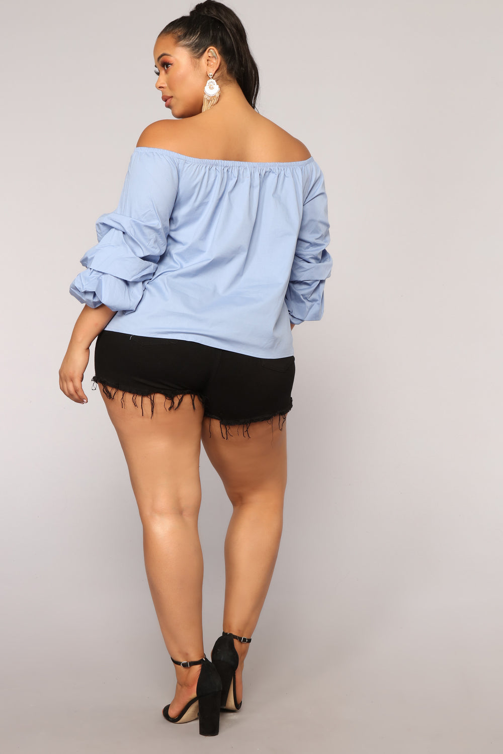 Floating On Clouds Top - Chambray