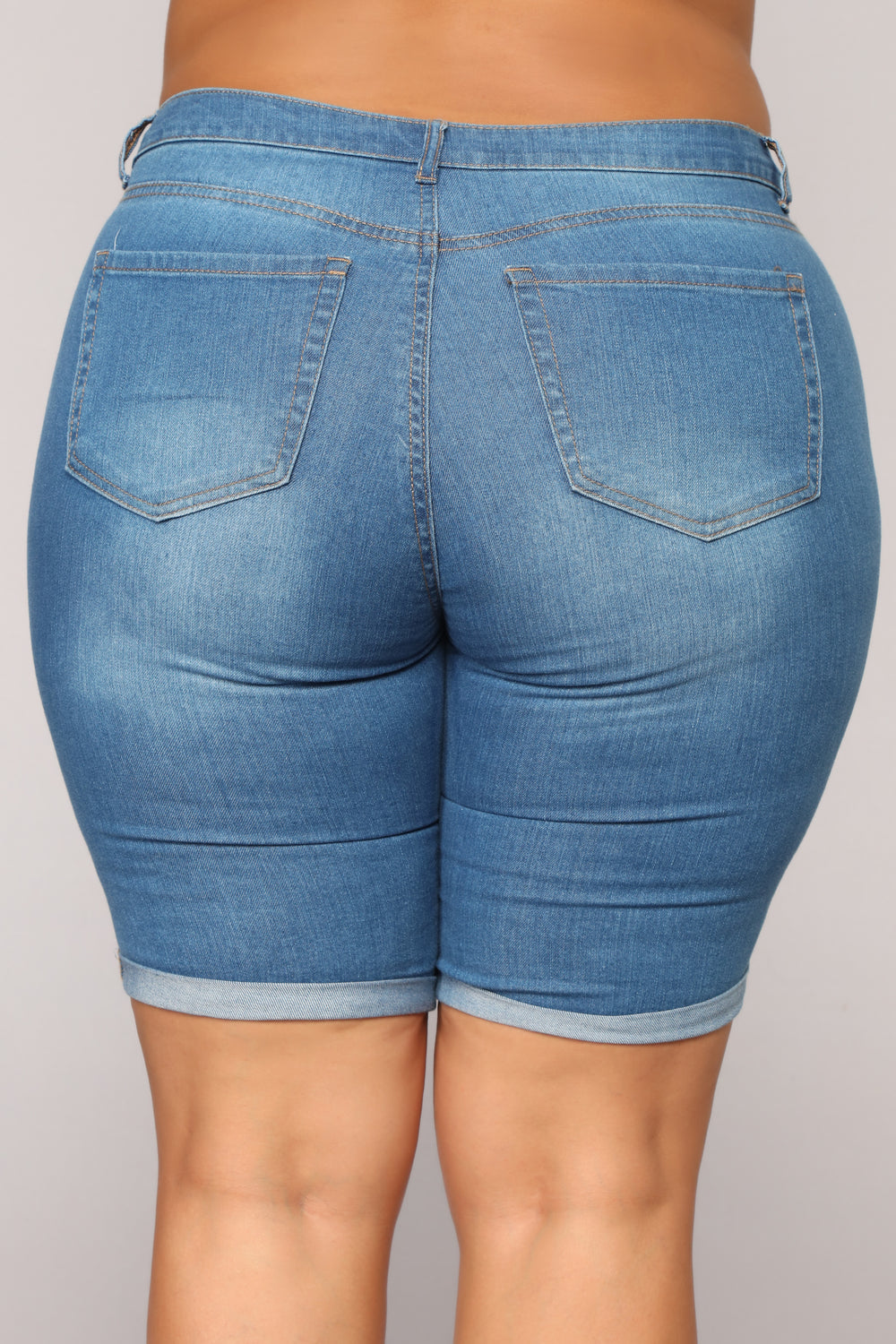 Happens Like This Bermudas - Medium Blue Wash