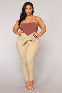 Don't Be So Square Bodysuit - Red Brown Angle 9