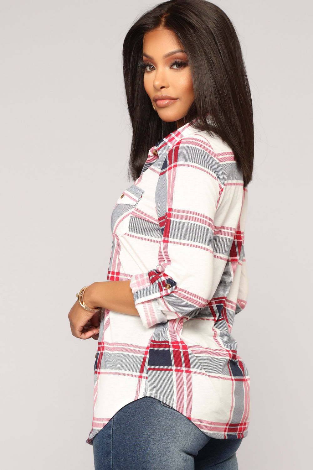 Soul Mate Red Plaid Top - Red/Black