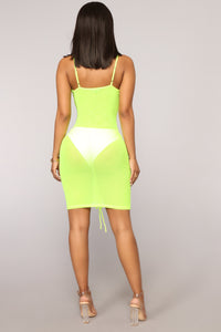 Madly In Love Ruched Dress - Yellow