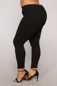 Jill II Super soft Skinny Jeans - Black