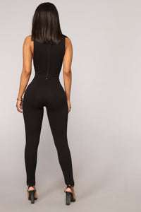 No Bra Club Sleeveless Jumpsuit - Black