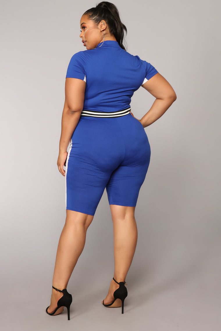 Accelerator Colorblock Romper - Royal