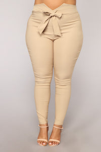 Knot Your Girl Pants - Khaki Angle 8