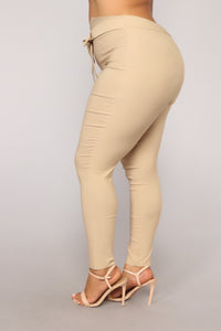 Knot Your Girl Pants - Khaki Angle 10