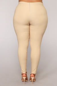 Knot Your Girl Pants - Khaki Angle 12