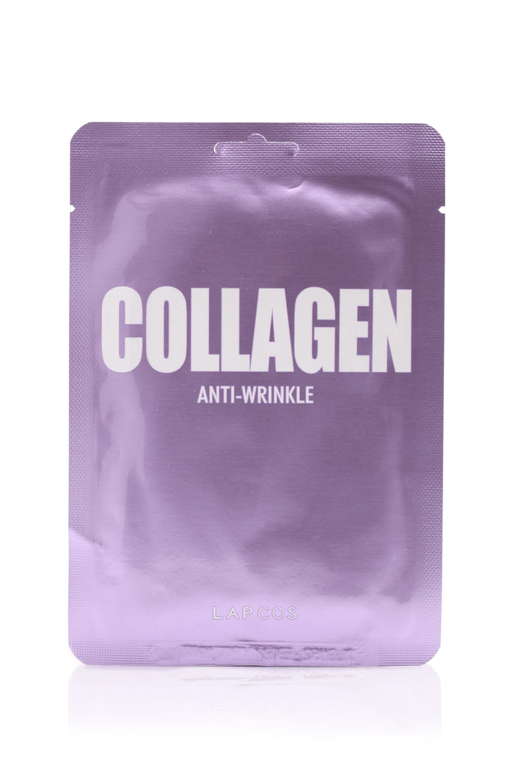 LAPCOS Anti Wrinkle Daily Sheet Mask - COLLAGEN