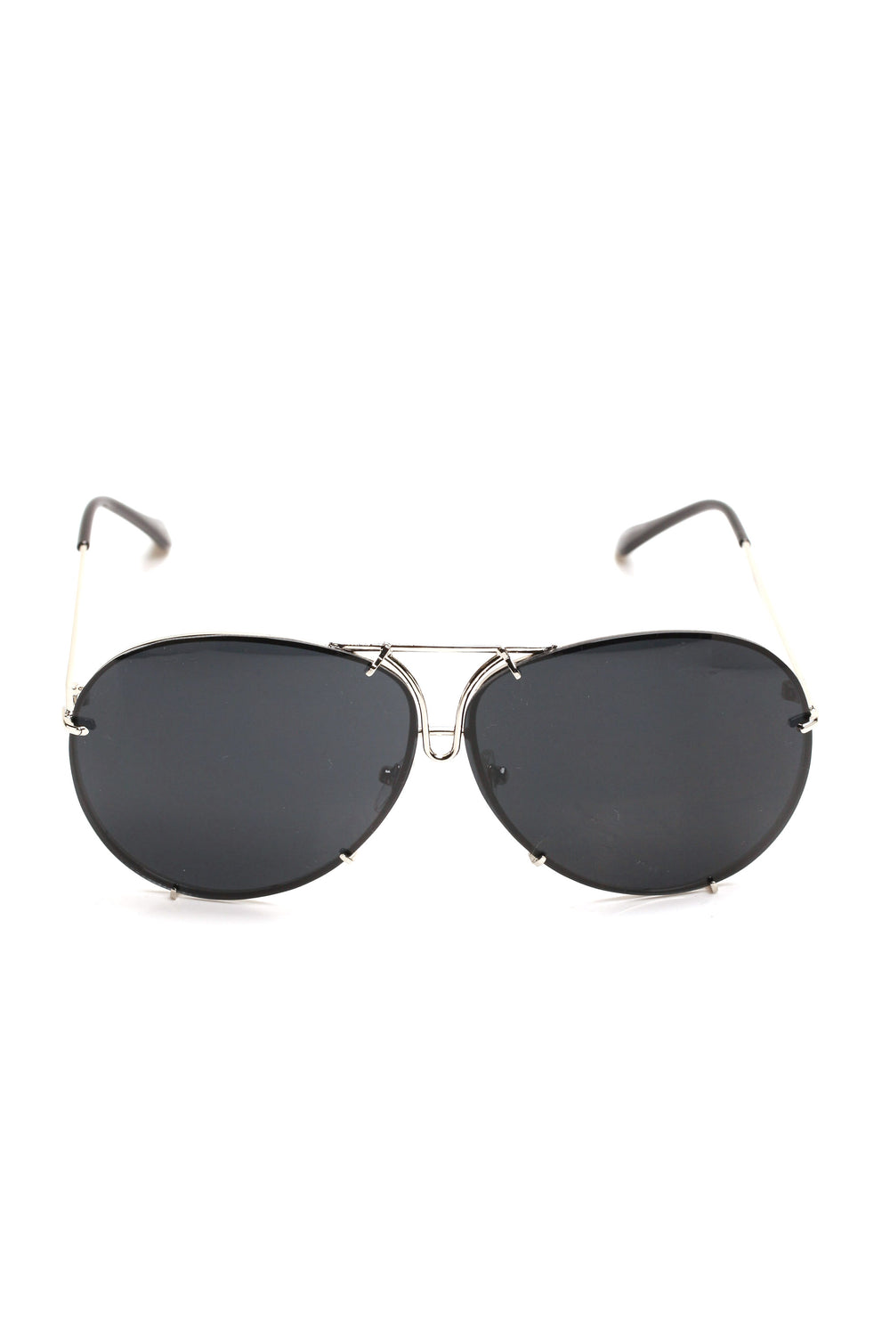 All About You Sunglasses - Silver/Black