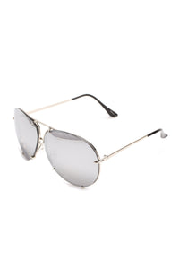 All About You Sunglasses - Flash/Silver Angle 3