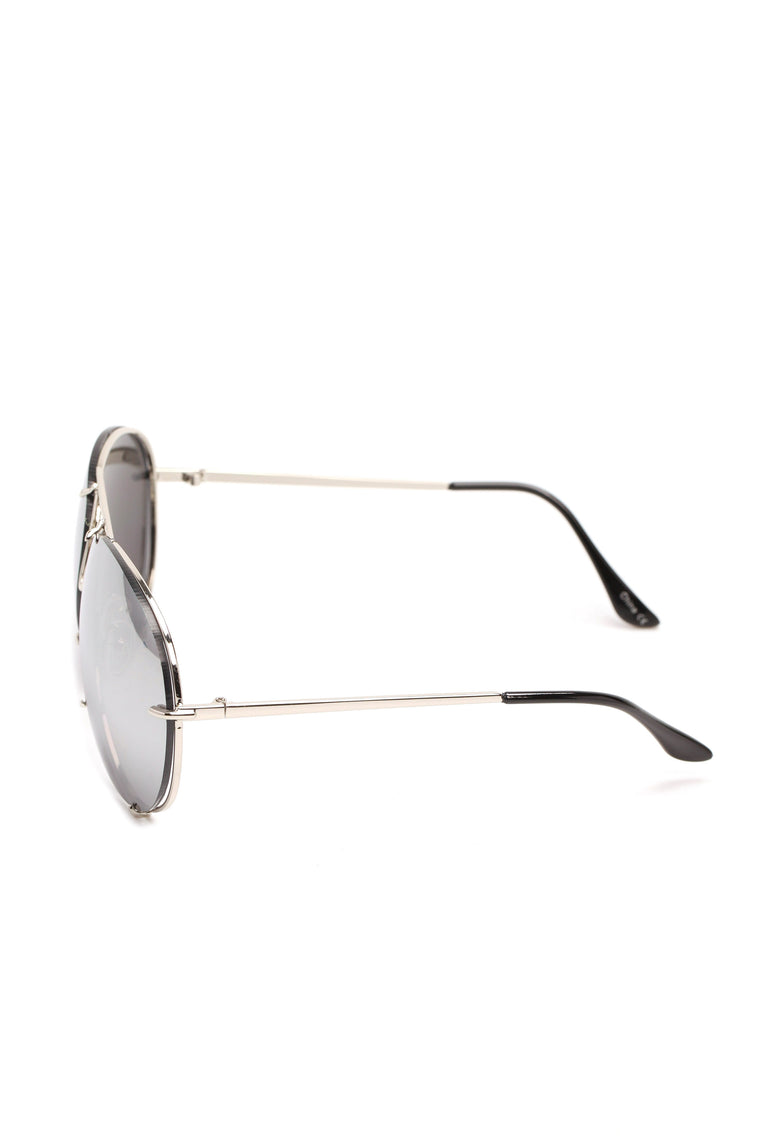 All About You Sunglasses - Flash/Silver