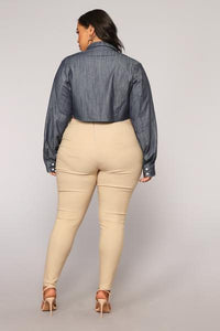 Knot Your Girl Pants - Khaki Angle 11