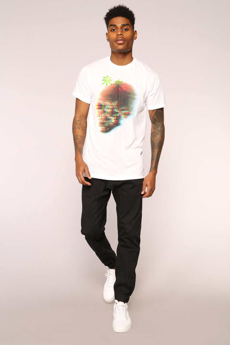 Blurred Vision Short Sleeve Tee - White