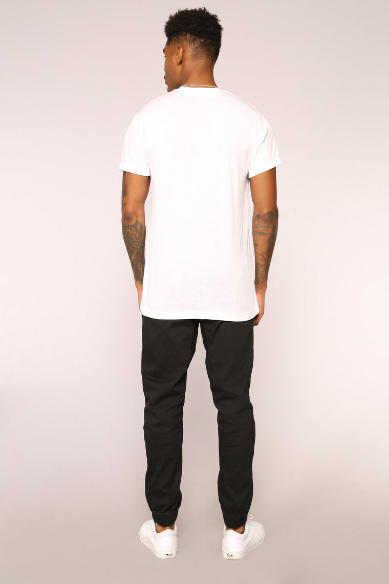 Too Late Short Sleeve Tee - White