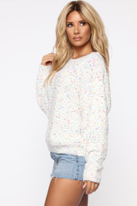 Day Of Bliss Sweater - White Multi