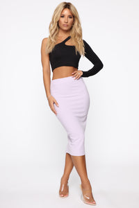 Always On Point Midi Skirt - Lilac Angle 2