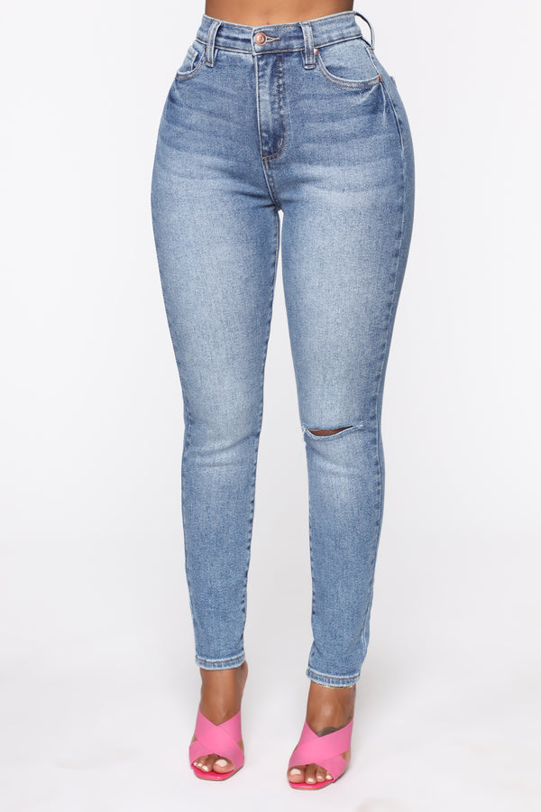 50b3291ee9db Need A Pick Me Up Ultra High Rise Jeans - LightBlueWash