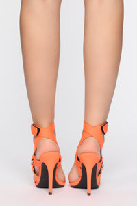 Brighter Than Your Future Heeled Sandal - Orange