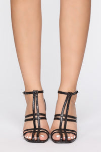Now You're Calling Heeled Sandal - Black