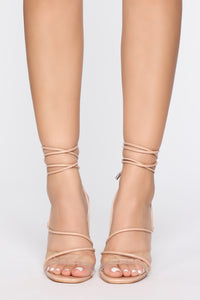 Hurry Over Heeled Sandals - Nude Angle 2