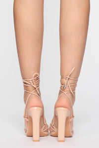 Hurry Over Heeled Sandals - Nude Angle 4