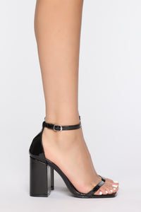 Left Me Speechless Heeled Sandal - Black Angle 3