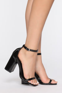 Left Me Speechless Heeled Sandal - Black Angle 1