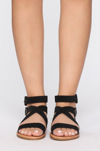 No Hiding Sandal - Black