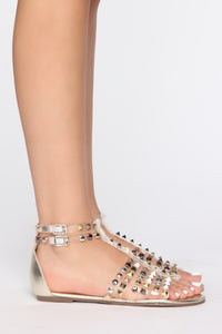 Endless Love Flat Sandals - Gold