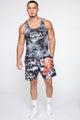 Spaceman Tank Top - Black/combo