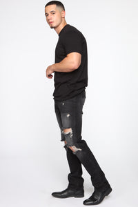 Maddox Straight Jeans - Black