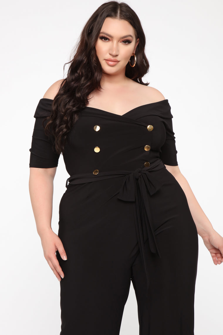 Be About The Business Jumpsuit - Black
